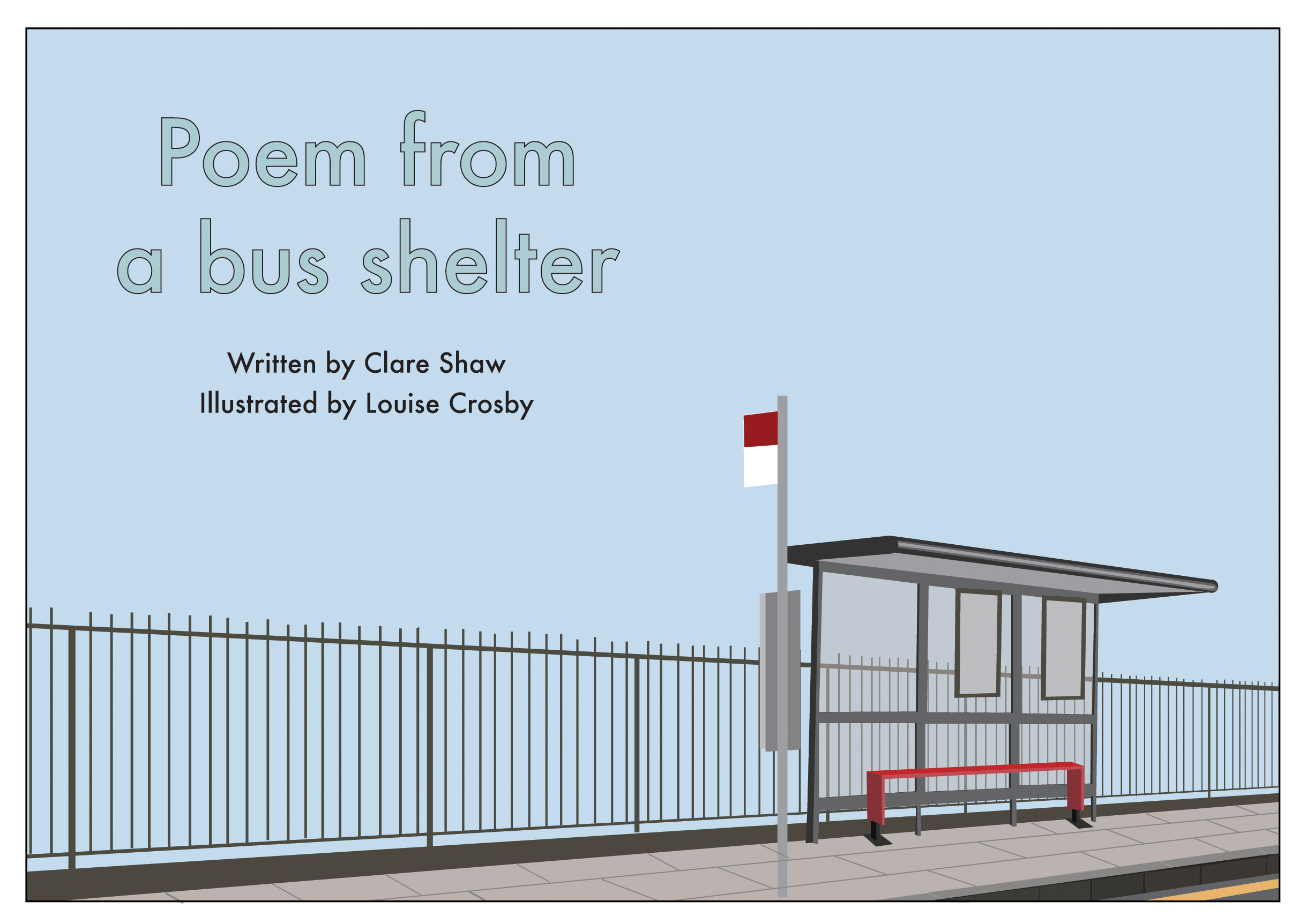 Illustration of Poem from a bus shelter by Clare Shaw (Bloodaxe2006) page extract